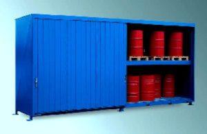 Container mit Auffangwanne