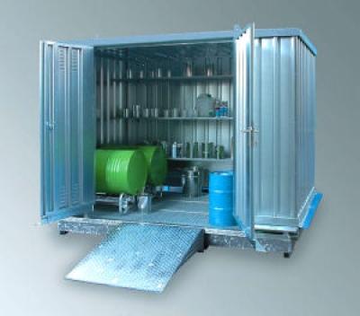 Gefahrstoffcontainer Sicherheitslagerhaus