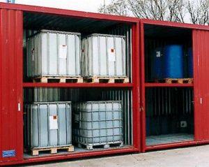 Gefahrstoffcontainer für Fässer und IBC